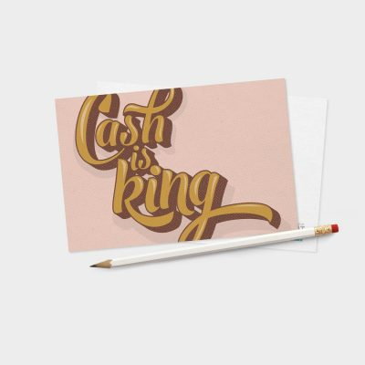 Probat - Kort - Cash is king (rosa)