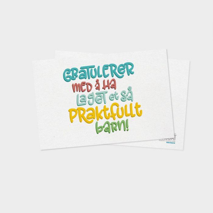Probat - Kort - Gratulerer med et praktfullt barn