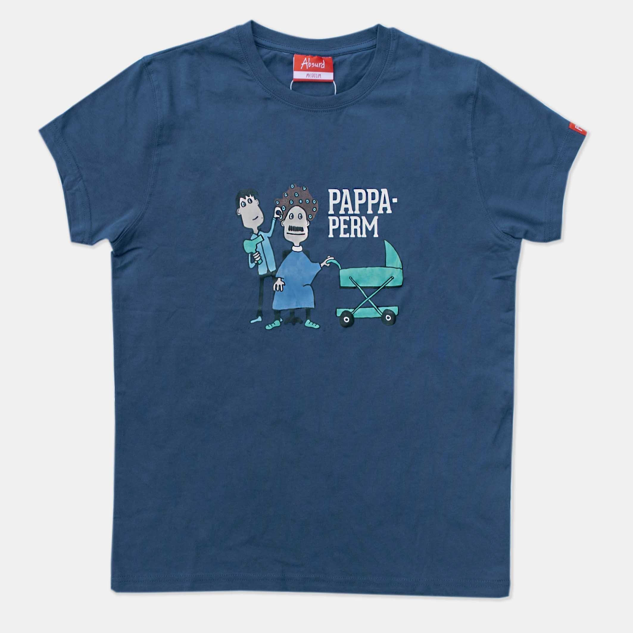 d813407e Pappaperm – blå t-skjorte | Probat