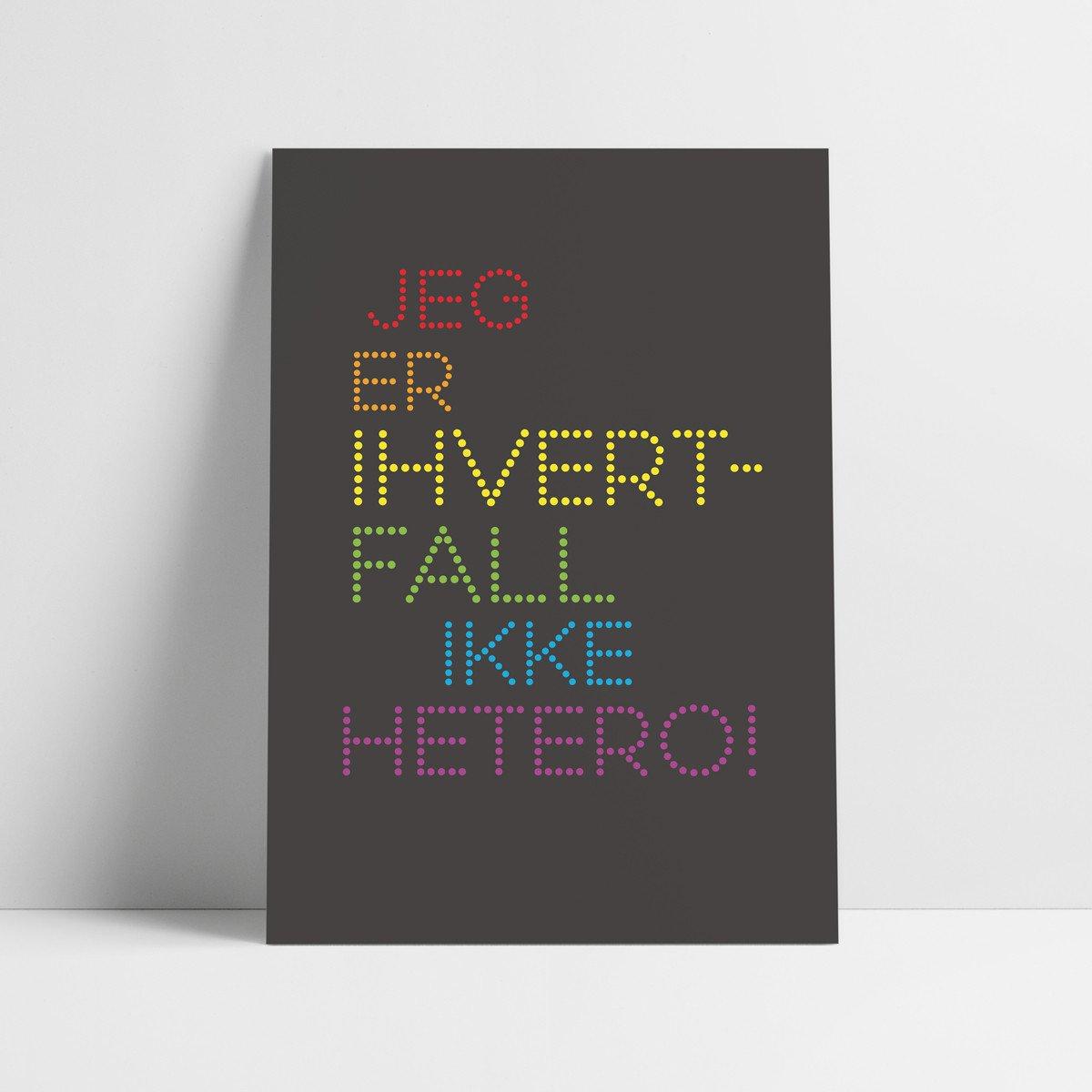 Probat - Plakat - hvertfall ikke hetero