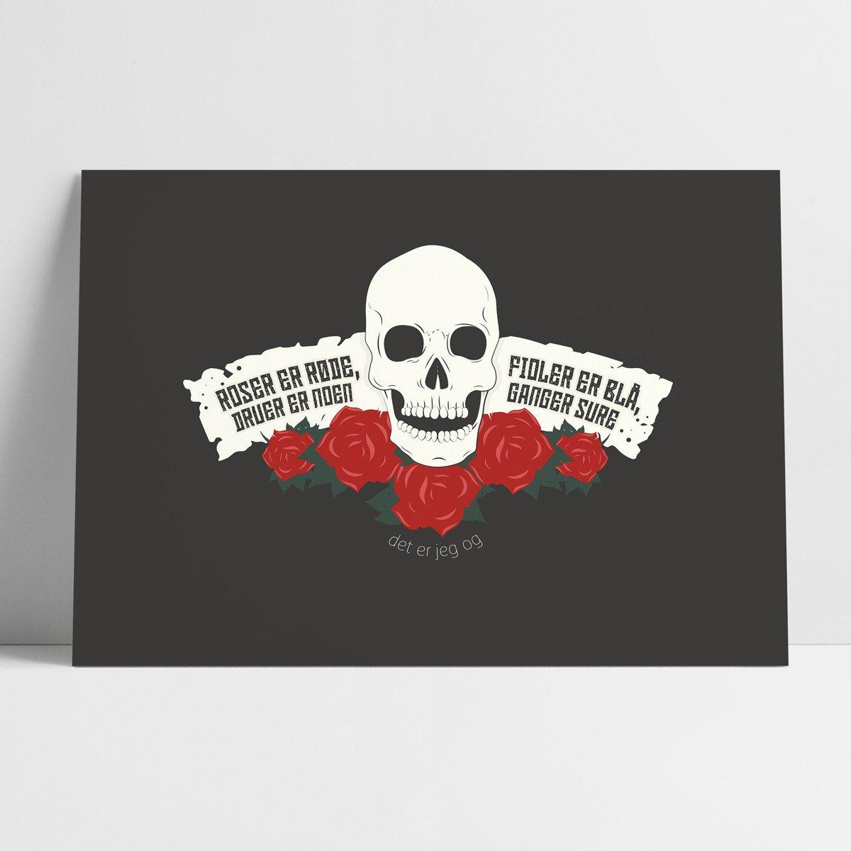 Probat - Plakat - roser er røde