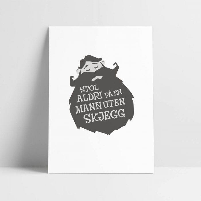Probat - Plakat - skjeggemann